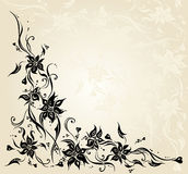 Ecru vintage floral invitation wedding background design Stock Images