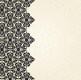 Ecru & zwart uitstekend behangontwerp Royalty-vrije Stock Afbeelding