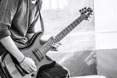The ecstasy of a guitar solo royalty free stock photography