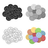 Ecstasy icon in cartoon style isolated on white background. Drugs symbol stock vector illustration. Stock Photography