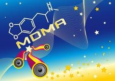 Ecstasy MDMA Chemical. This flier shows ecstasy chemical formula stock illustration
