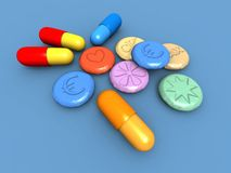 Free Ecstasy Pills Royalty Free Stock Images - 8988559