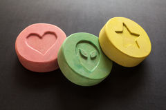 Ecstasy pills Stock Photos