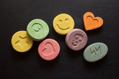 Ecstasy pills Stock Photo