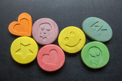 Ecstasy pills Royalty Free Stock Photography