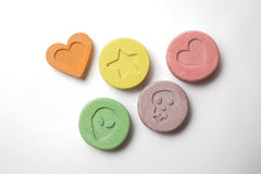 Ecstasy pills Stock Photography