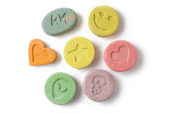 Ecstasy pills Royalty Free Stock Image