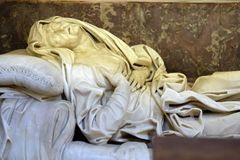 The Ecstasy of Saint Anne. Sculpture created by Giovanni Battista Maini and displayed at Basilica di Sant Andrea delle Fratte, Rome, Italy royalty free stock photos