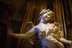 The Ecstasy of Saint Teresa. Is the central sculptural group in marble set in an aedicule in the Cornaro Chapel,Santa Maria della Vittoria, Rome,Italy. It was royalty free stock image