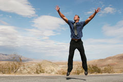 Ecstatic Business Man Royalty Free Stock Photography