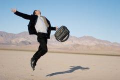 Ecstatic business man stock photos