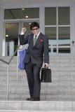 Ecstatic businessman Royalty Free Stock Photos