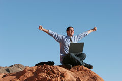 Ecstatic businessman Stock Image