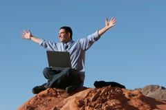 Ecstatic businessman Stock Photo
