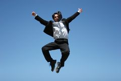 Ecstatic businessman Stock Photo