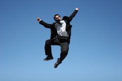 Ecstatic businessman Stock Photos
