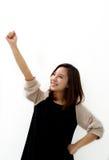 An ecstatic businesswoman Stock Photography
