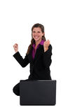 An ecstatic businesswoman. Stock Images