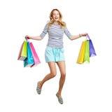 Ecstatic consumer Royalty Free Stock Image