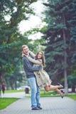 Ecstatic couple Stock Photography