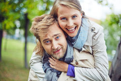 Ecstatic couple Royalty Free Stock Image