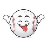 Ecstatic face baseball cartoon character Stock Photography