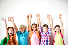Ecstatic friends Royalty Free Stock Images