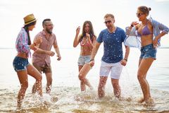 Ecstatic friends Stock Photography