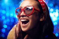 Ecstatic girl Stock Image