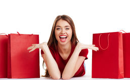 Ecstatic girl Stock Photos
