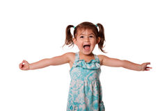 Ecstatic happy little toddler girl Stock Photography