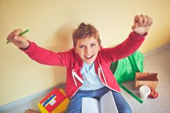 Ecstatic junior Royalty Free Stock Images