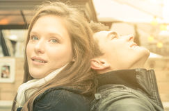 Ecstatic look of two young Lovers Royalty Free Stock Image