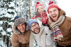Ecstatic people Royalty Free Stock Images