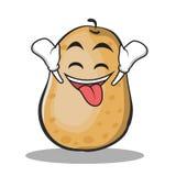 Ecstatic potato character cartoon style Royalty Free Stock Photography