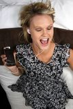 Ecstatic Pretty Music Lover Stock Photo
