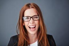 Ecstatic secretary Stock Photo