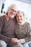 Ecstatic seniors Royalty Free Stock Image