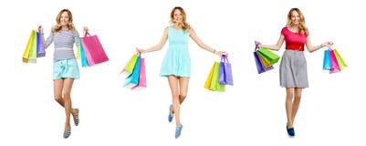 Ecstatic shopper Royalty Free Stock Images