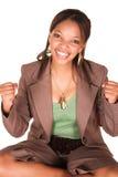 Ecstatic successful woman Stock Photos