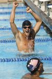 Ecstatic Swimmer Cheering Royalty Free Stock Images