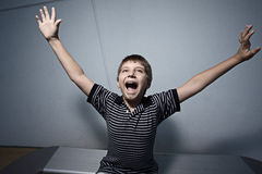 Ecstatic young child Royalty Free Stock Photos