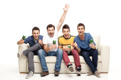 Ecstatic young men screaming Royalty Free Stock Photo