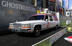 Ecto-1. At the World premiere of 'Ghostbusters' held at the TCL Chinese Theatre in Hollywood, USA on July 9, 2016 stock images