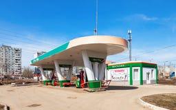 Ecton benzynowa stacja Ecton jest jeden rosyjska benzynowa stacja w Sa Fotografia Royalty Free