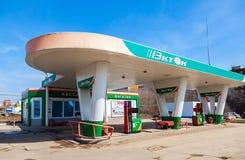 Ecton benzynowa stacja Ecton jest jeden rosyjska benzynowa stacja w Sa Obraz Royalty Free