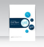 Ector design for Cover Report  Brochure Flyer Poster in A4 size Royalty Free Stock Image