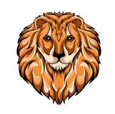 Ector-Illustration des Kopfes eines Löwes lizenzfreie abbildung