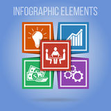 Ector infographic elements with integrated icons. Infographic concept. Vector infographic elements with integrated icons for development, innovations, solution Stock Photo