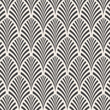 Ector pattern. Monochrome ornament with abstract leaves background royalty free illustration